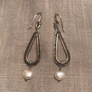 SILPADA Sterling & Pearl Earrings